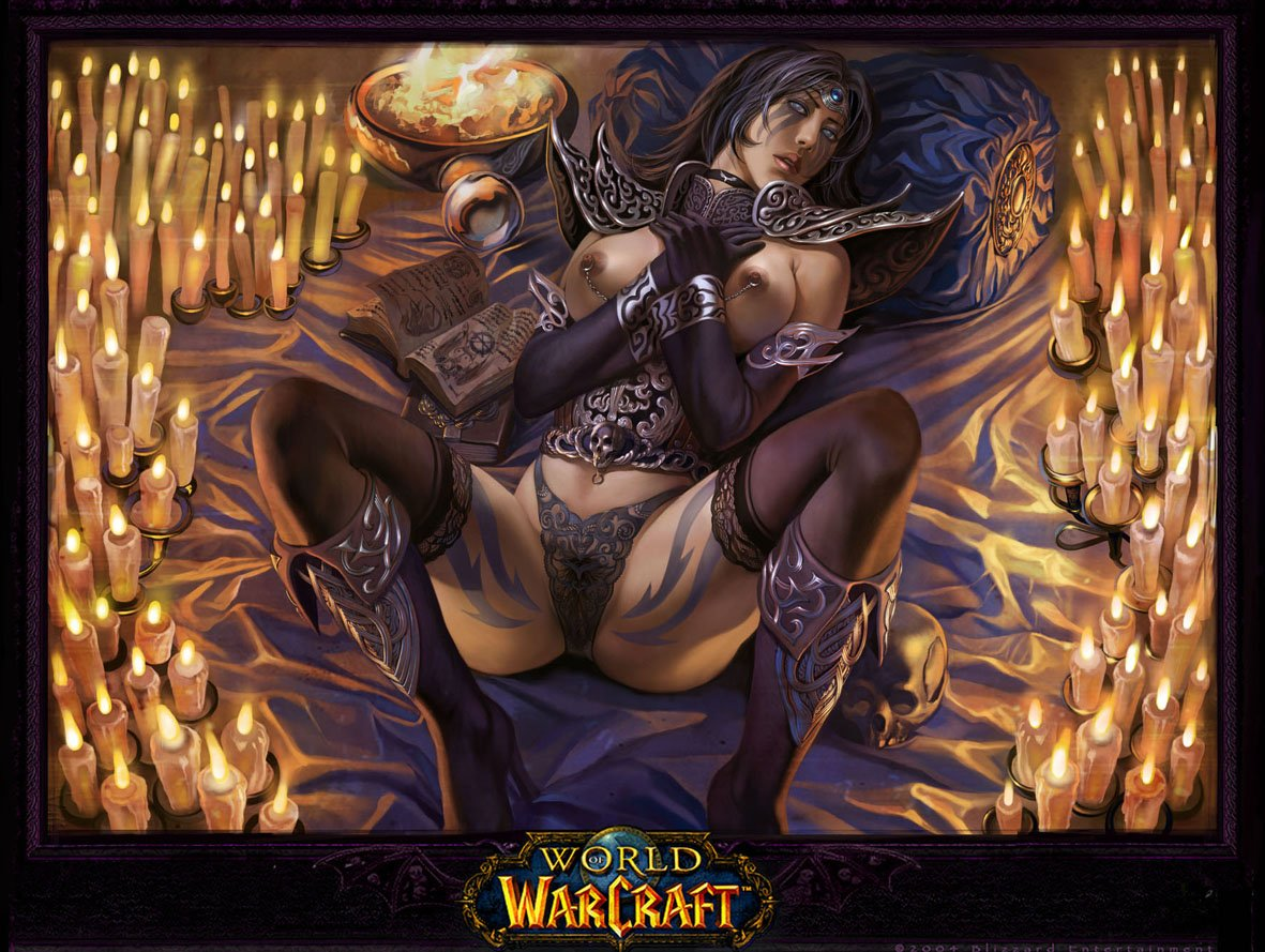 Sexy girl World of Warcraft art pron photo